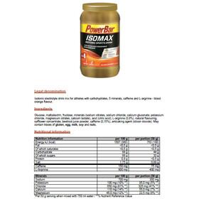 PowerBar Isomax Sports Drink Sportvoeding met basisprijs Bloed Oranje met coffeïne 1200g